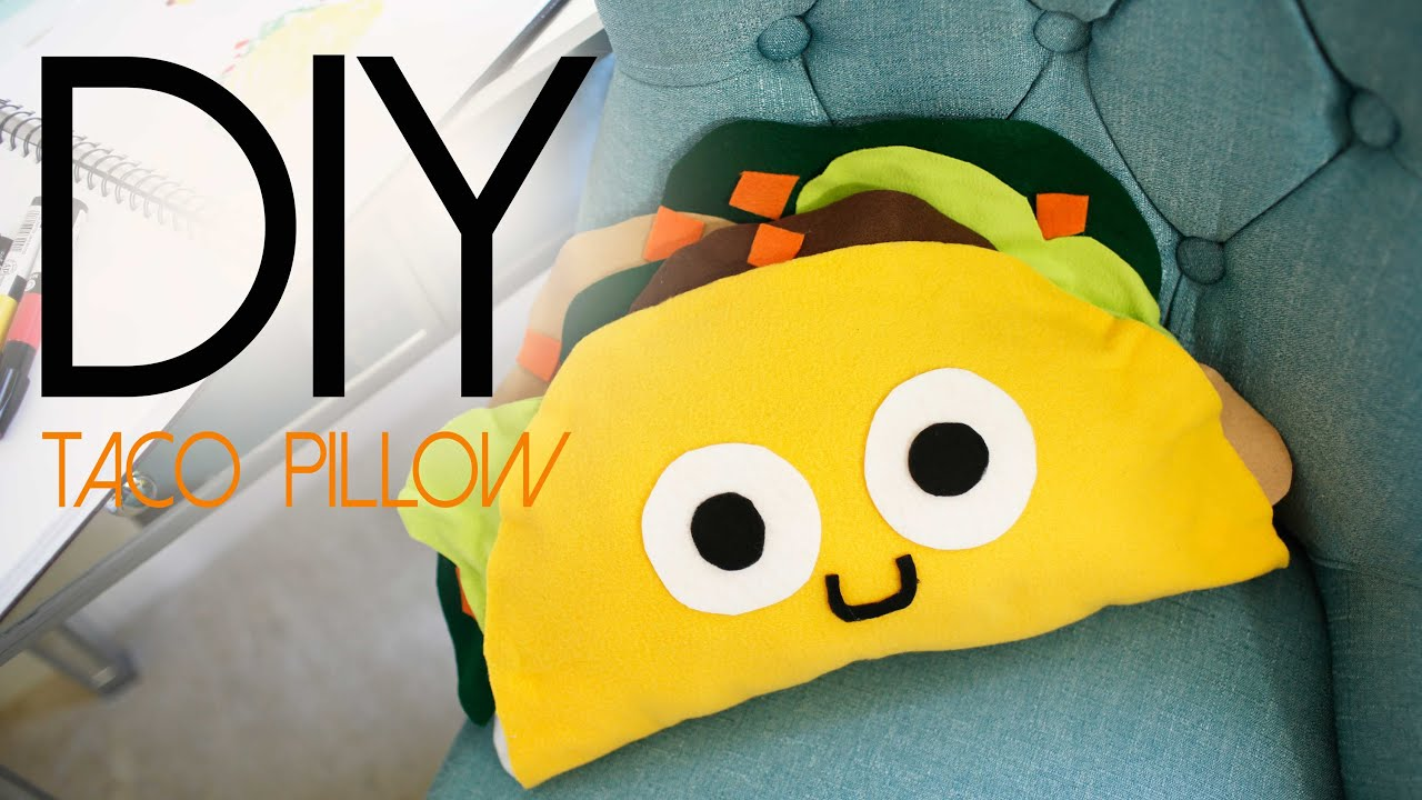 Cute Food Pillows Diy : DIY Taco Pillow - CUTE PLUSHIE ANN LE - YouTube