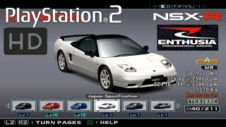 ALL Cars PS2 Enthusia Professional Racing Showcase 1440p 60fps