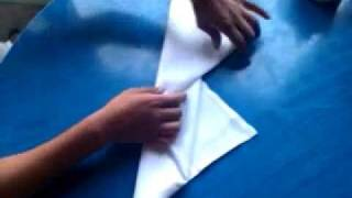 how to make a chef hat napkin