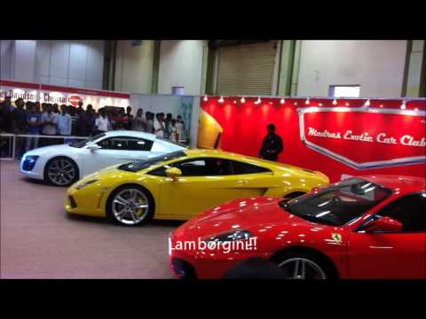 Sports Car Engine Revving at Chennai Auto Expo!!