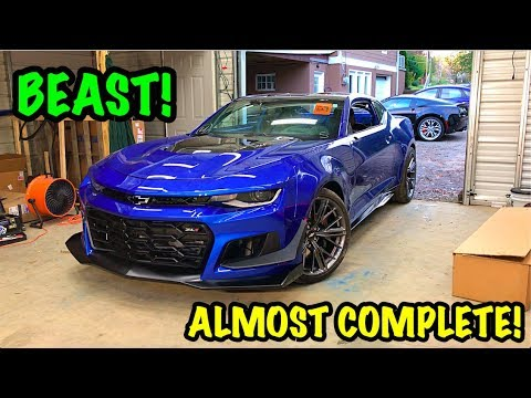 Rebuilding A Wrecked 2018 Camaro Zl1 Part 17 Youtube
