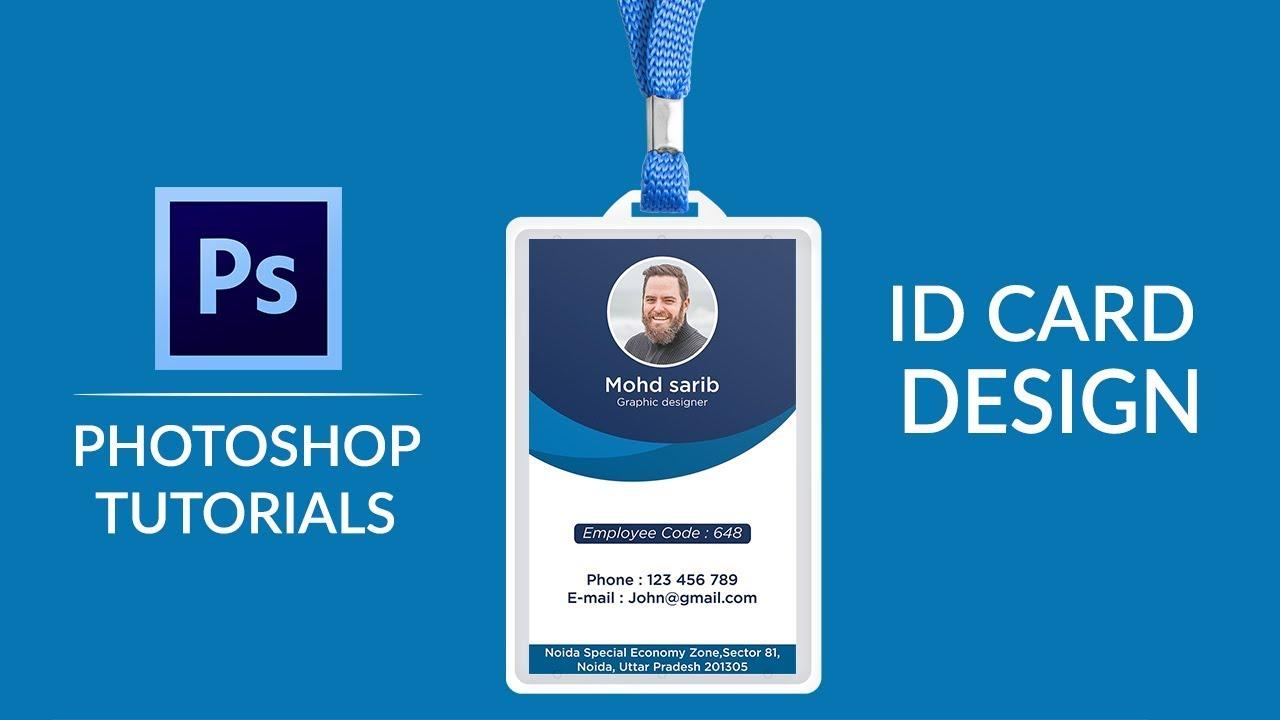 ID Card Design In Photoshop | How to Design ID Card In Photoshop | In Hindi | Sarib Designer