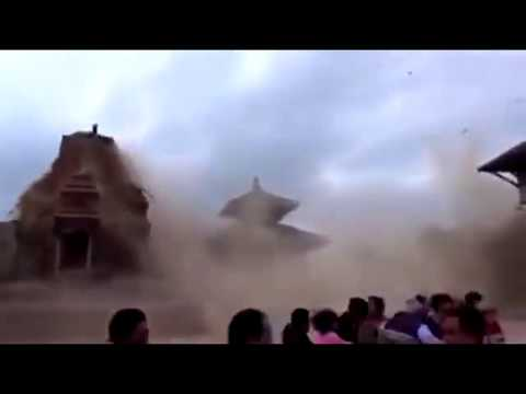 Nepal Earthquake 2015 CCTV footage