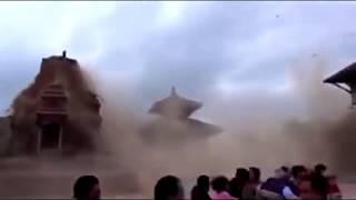 Nepal Earthquake 2015 CCTV footage