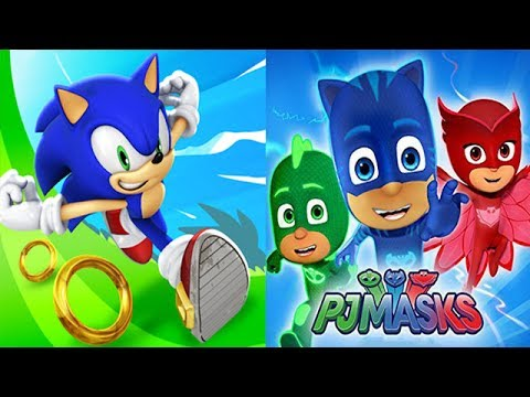 Sonic Dash vs PJ Masks Moonlight Heroes