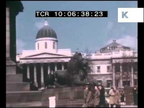 Post War 1940s London in Colour, Rare Footage