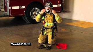 Crafton Hills Fire Academy SCBA donning evolution.mov