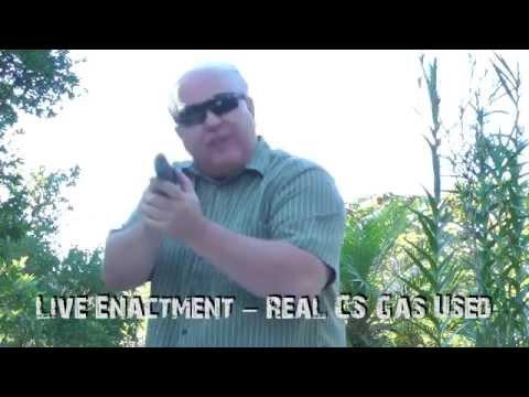 Bruni Front Firing CS Gas Pepper Spray 9mm Look Alike Non Lethal Pistol