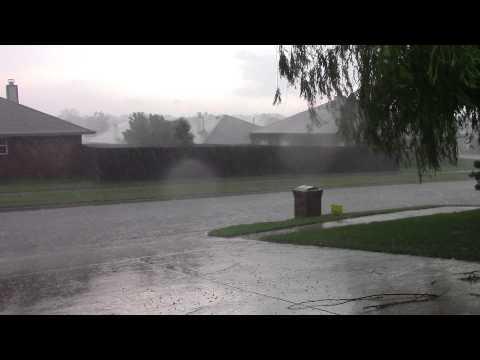 Tornado Outbreak! Moore, Oklahoma May 6, 2015 sirens, lightning, hail, wind,debris, flooding rain.