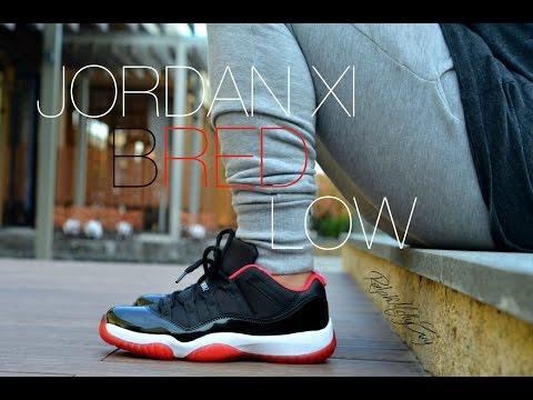 Jordan XI Bred Low Sneaker Review + On Feet