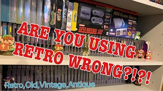 ARE YOU USING RETRO WRONG?!?!?: What is the difference between retro,old,vintage,and antique.