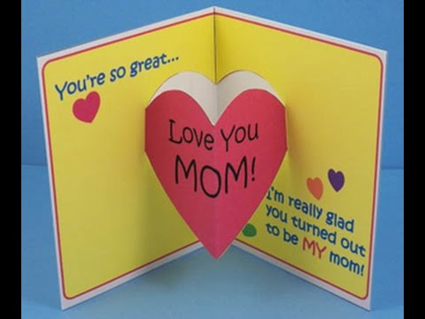 Mothers Day Special Craft Greeting Card Project Ideas for Kids – Birthday Cards Children
