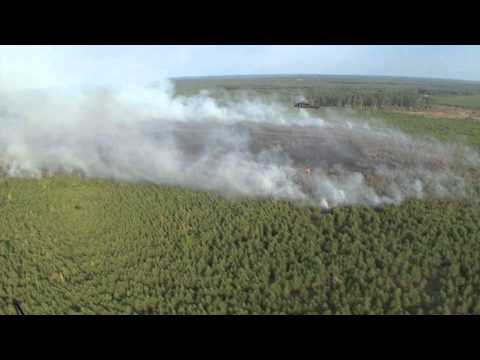 Arkansas National Guard Fights Wildfires With Blackhawk Helicopters