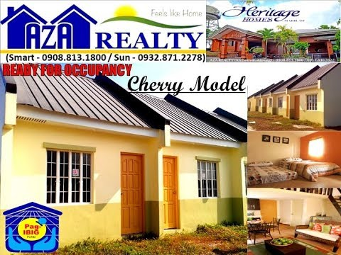 Cherry Model Lofted Rowhouse House and Lot For Sale in Heritage Homes Marilao