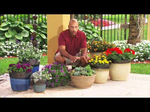How To Decorate A Deck Or Patio With Flowers Youtube