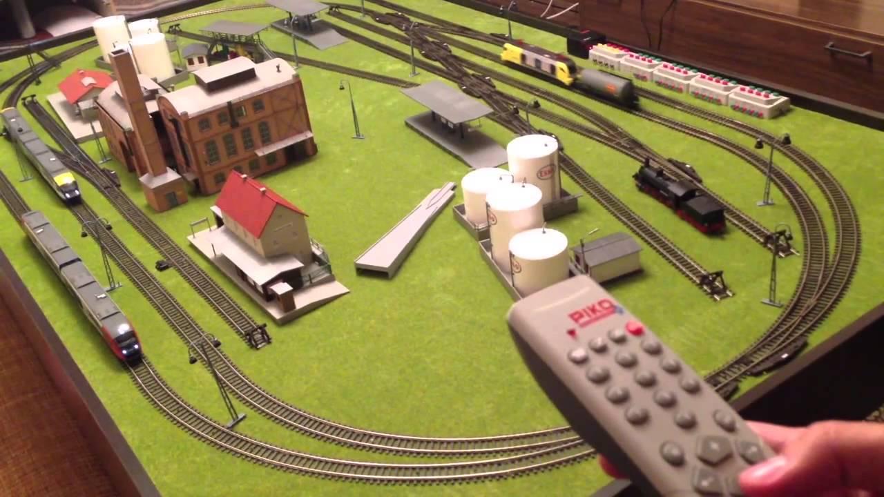Макет моделей железных дорог PIKO видео - YouTube