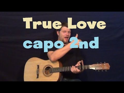 True Love (Pink) Easy Guitar Lesson How To Play Capo 2nd Fret Tutorial