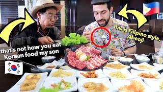 "🇰🇷 MASSIVE Korean Food Mukbang with ABEOJI in ""Korean Town"" of the Philippines 🇵🇭"