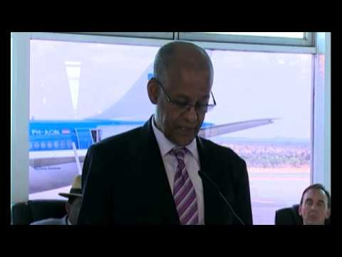 KLM Royal Dutch Airline's first flight between Windhoek and Amsterdam-NBC