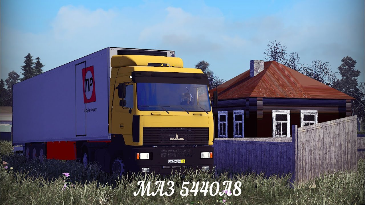 ETS2 v1.8.2.5s] [MOD] МАЗ 5440А8 - YouTube