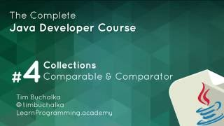 Java Course - 5 of 7 - Comparable and Comparator