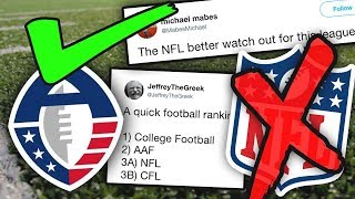 Why the AAF WILL Take Over the NFL...