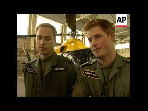 William and Harry in flying kit as they continue their training