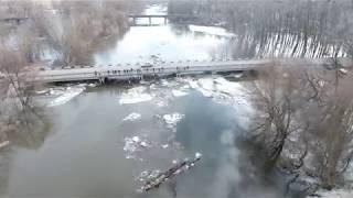 Льодохід на р.Псел у Полтавській області
