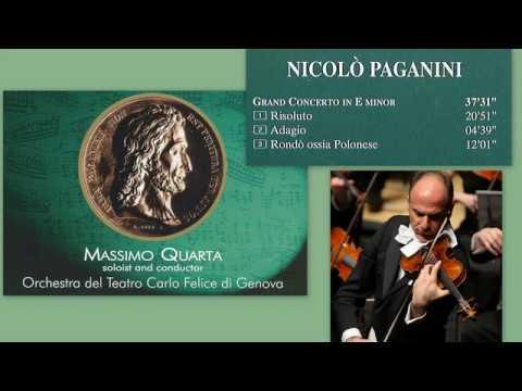 Niccolo Paganini: Violin Concerto No. 6 (aka. No. 0) in E Minor, MS 75, Massimo Quarta