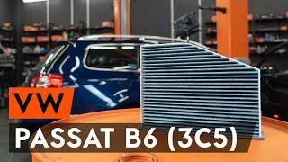 Kā nomainīt salona gaisa filtrs / salona filtrs VW PASSAT B6 (3C5) [AUTODOC VIDEOPAMĀCĪBA]