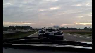 Ford GT vs Koenigsegg CCXR on the Autobahn