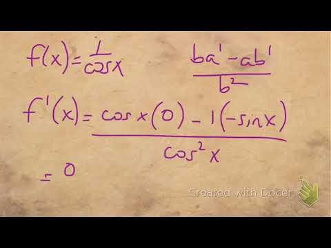 derivative secant quotient rule