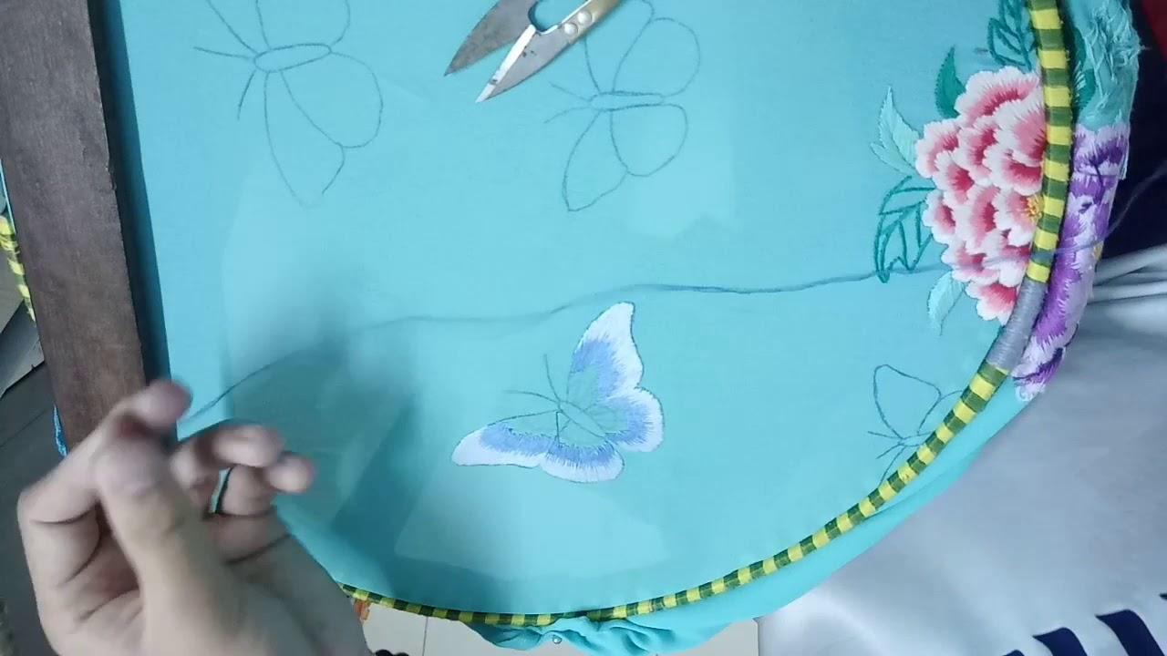 Chia sẻ cách thêu con bướm xinh