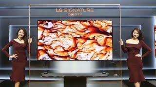 2017 LG SIGNATURE OLED TV W…두께는 4㎜, 값은 소형차급 (OLED65W7, 시그니처 올레드)