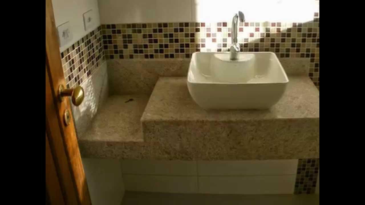 fiz acabamento de banheiro faixa pastilha de vidro no nicho  YouTube -> Banheiro Cim Pastilha