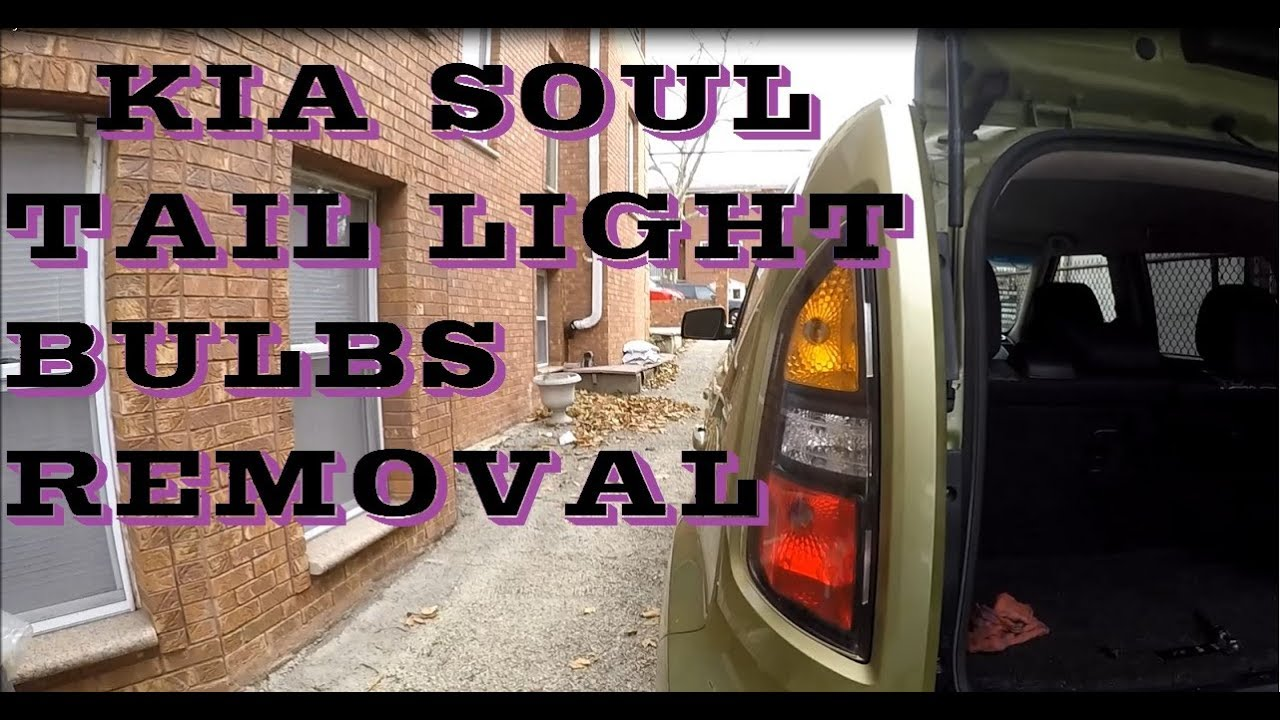 how to replace change tail light bulbs in kia soul