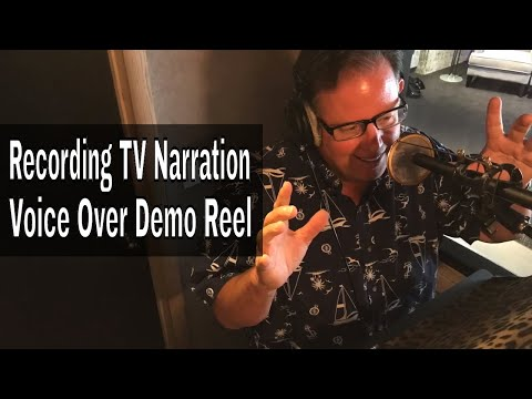 Recording A TV Narration Voice Over Demo That Rocks w Scott Rummell   Voice  Actor