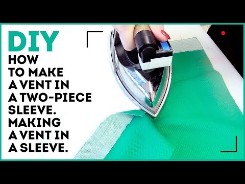 DIY: How to make a vent in a two-piece sleeve. Making a vent in a sleeve. Sewing tutorial.