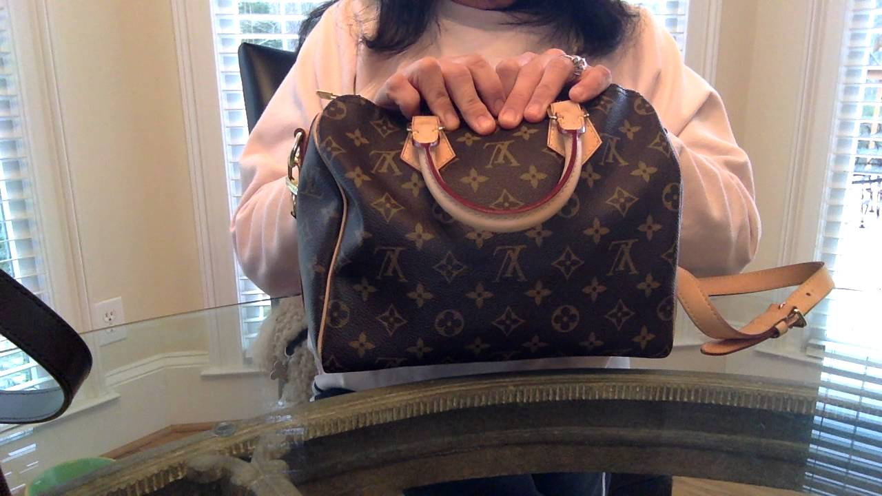 Comparison of Louis Vuitton Speedy Bandouliere 30 Ebene vs 25 Monogram f238275df5f17