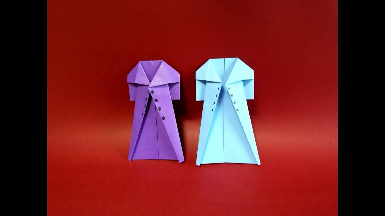 Easy Paper Origami Coat
