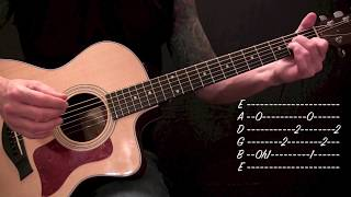 Alice in Chains - Down in a Hole - Acoustic Guitar Lesson