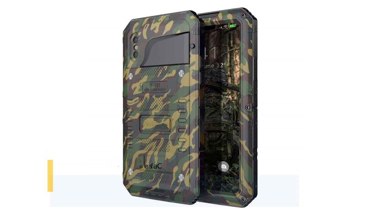the best attitude 2331b 208af Beasyjoy Waterproof Case Compatible for iPhone Xs & iPhone X, Aluminum  Metal Heavy Duty Strong Phone