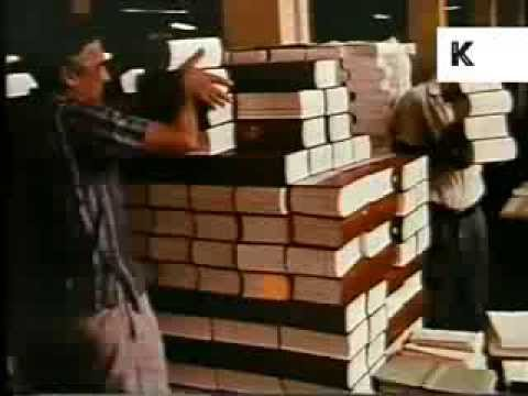 Late 1960s/ Early 1970s Cuba, Books Printed on Printing Presses, Education, Colour Footage