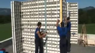Монтаж стеновой опалубки  ч.2(Многоразовая пластиковая опалубка для всех видов работ начиная с фундамента и заканчивая перекрытиями...., 2015-10-13T09:38:55.000Z)