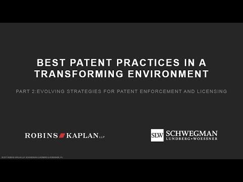 Evolving Strategies for Patent Enforcement