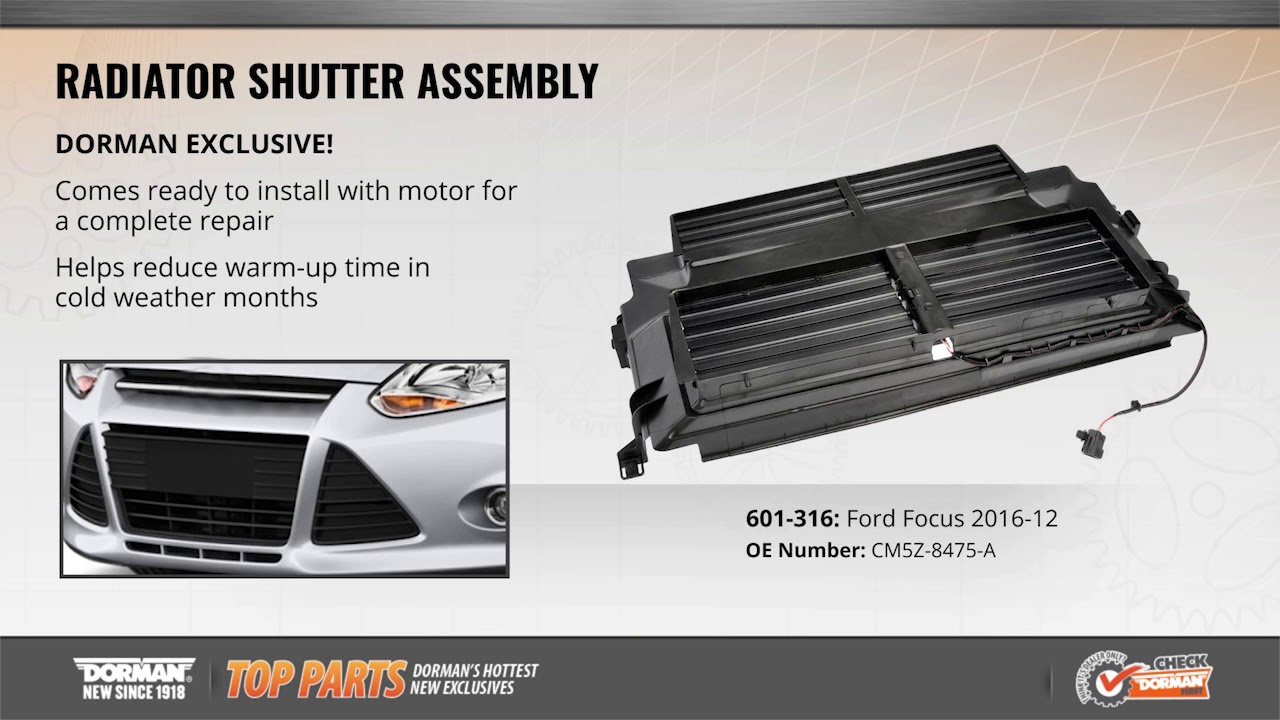 Highlighted Part: Radiator Shutter Assembly for Select Ford Focus Models  YouTube