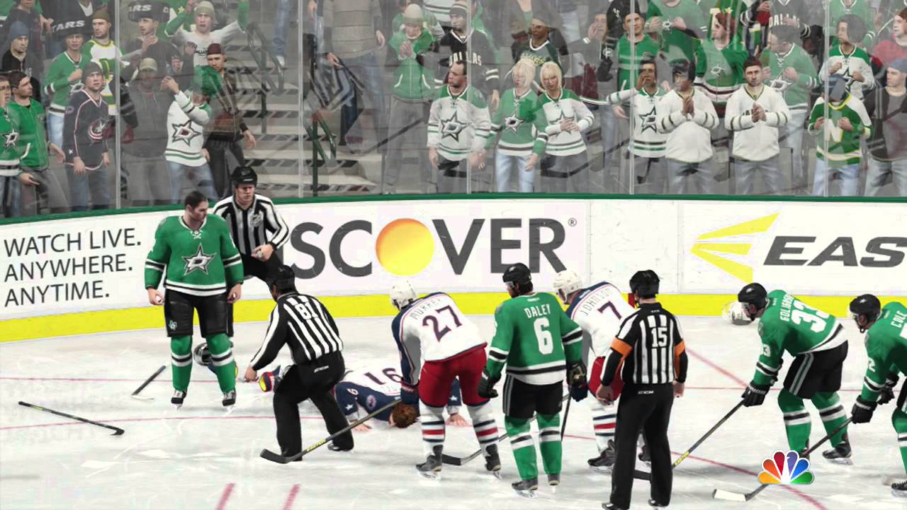 NHL 15 Blue Jackets vs Stars (Xbox One) - YouTube