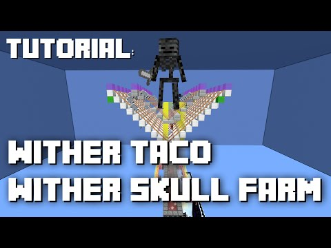 Minecraft: Simple AFK Wither Skull Farm Tutorial (1.8)