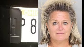 Woman Arrested After Destroying License Plates Due To Cops Not Siding With Her