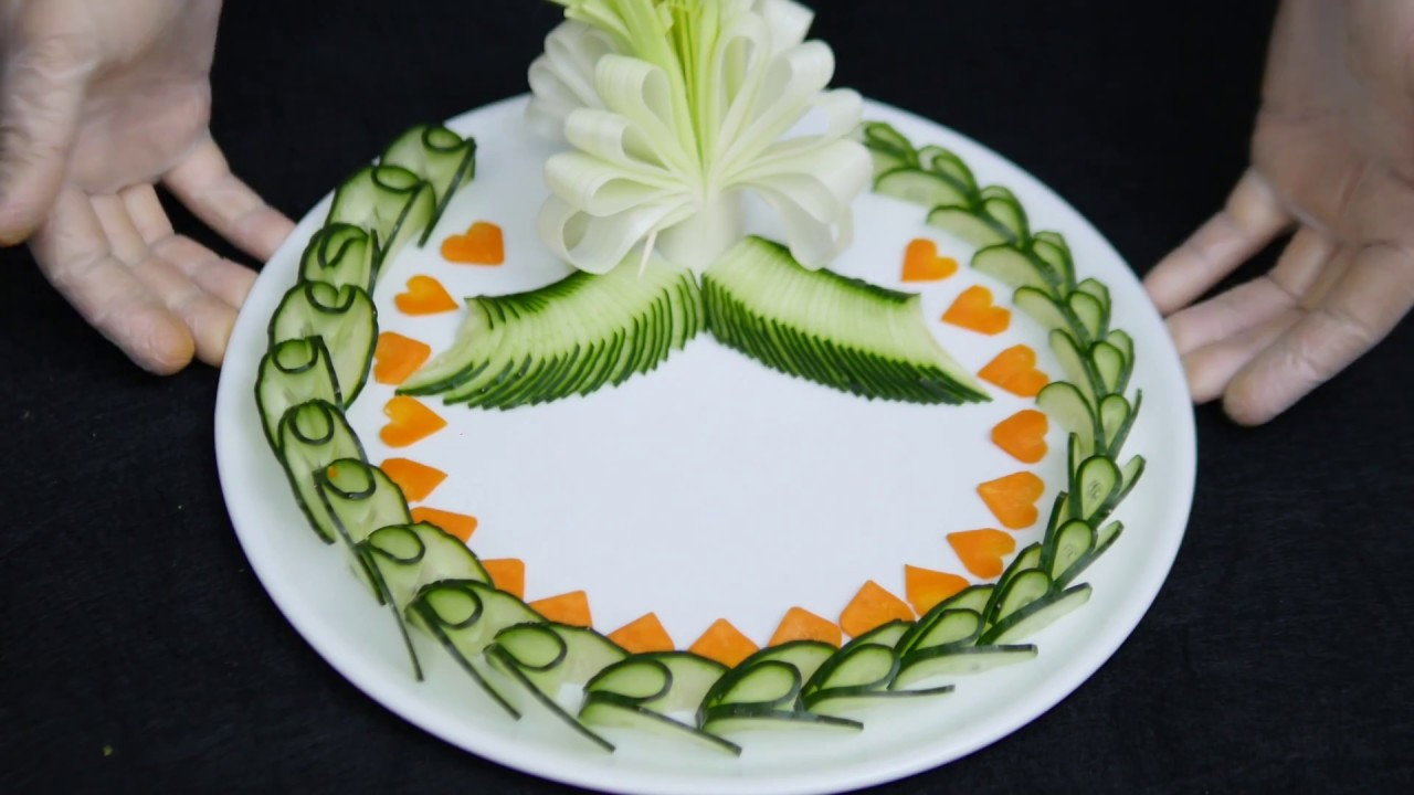 Cucumber Decoration How To Carving Vebetables By J Pereira Art